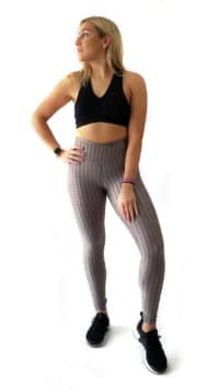 Metallic Leggings Silver