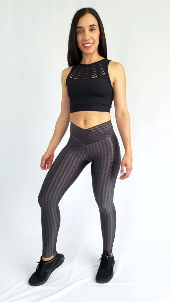 Metallic Leggings Dark Grey